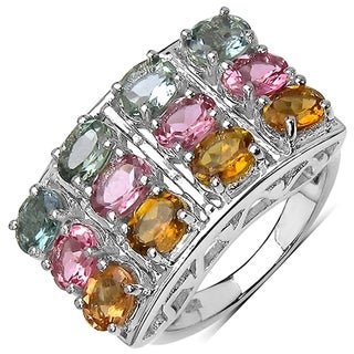 iNatemy .925 Sterling Silver 4.24ct Tourmaline Ring - Size 7