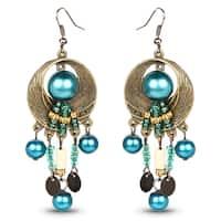 Liliana Bella Oxidized Turquoise Bead Chandelier Earrings