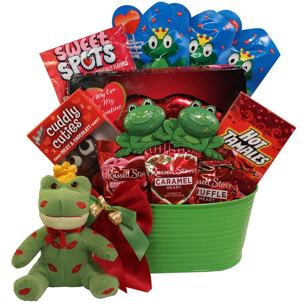 I'm Toad-ally Yours- Prince Charming Frog Valentines Day Gift Basket - i'm toad-ally yours