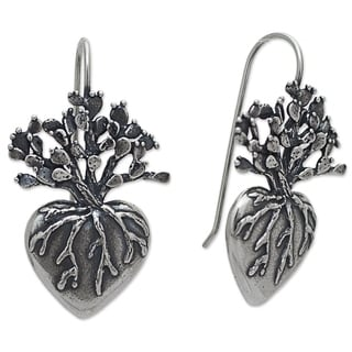 Handcrafted Sterling Silver 'Root of Life' Earrings (Mexico)