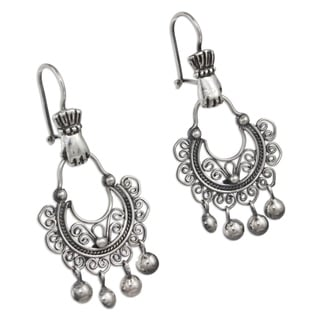 Handcrafted Sterling Silver 'Rainy Day' Earrings (Mexico)