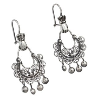 Handmade Sterling Silver 'Rainy Day' Earrings (Mexico)