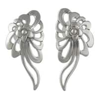 Handmade Sterling Silver 'Colonial Nosegay' Earrings (Mexico)
