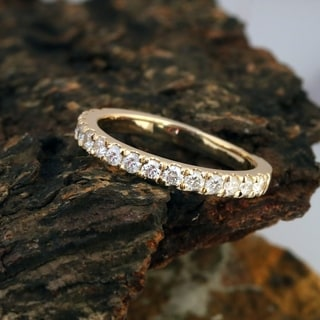Attirant De Couer 14k Yellow Gold 1/2ct TDW Diamond Wedding Band