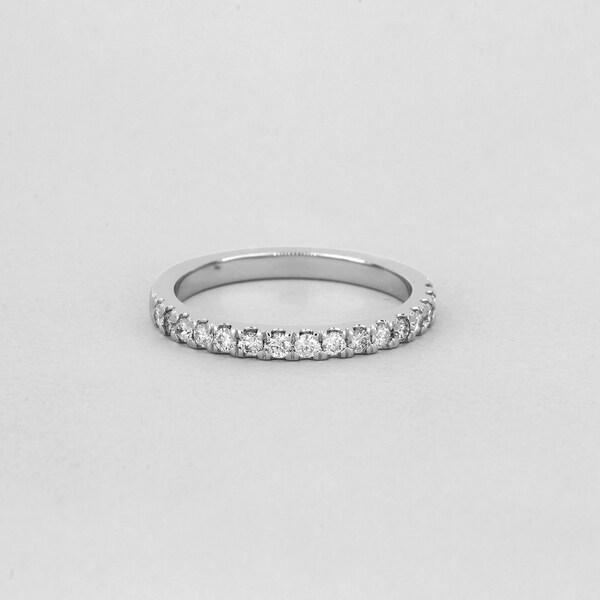 De Couer 14k White Gold 1/2ct TDW Diamond Wedding Band