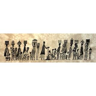 Water' Heidi Lange Screen Print, Handmade in Kenya (As Is Item)
