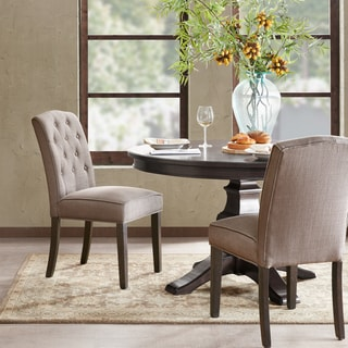 Madison Park Misha Grey Tufted Dining Chair Set of 2