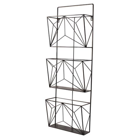 Tyde Three-Pocket Hanging File Wall Organizer