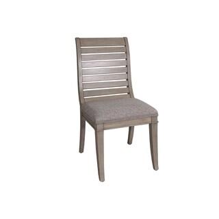 Greyton Grove Driftwood Slat Back Upholstered Side Chair