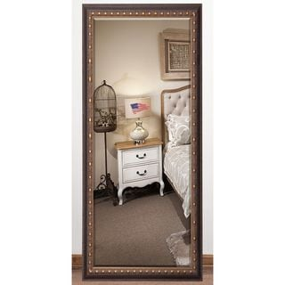 US Made Traditional Cameo Bronze Beveled Full Body Mirror