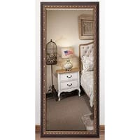 US Made Traditional Cameo Bronze Beveled Full Body Mirror - dark brown/bronze