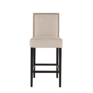 Jona Beige Linen Barstool Chair