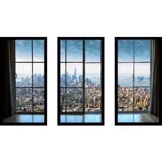 New York City Window' Framed Plexiglass Wall Art (Set of 3)