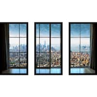 New York City Window' Framed Plexiglass Wall Art (Set of 3)