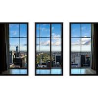 New York Central Park II Window' Framed Plexiglass Wall Art (Set of 3)