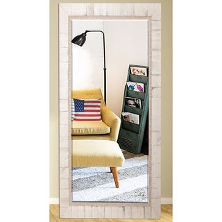 US Made Tuscan Ivory Beveled Full Body Mirror