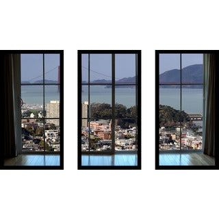 """San Francisco Window"" Framed Plexiglass Wall Art Set of 3"