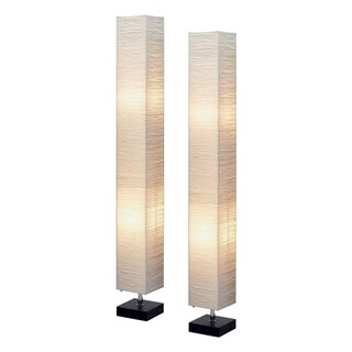 Isa Square Floor Lamp Pair