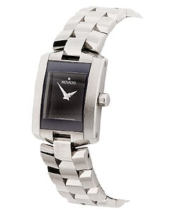 Movado Eliro Women's Black Dial Stainless Steel Watch