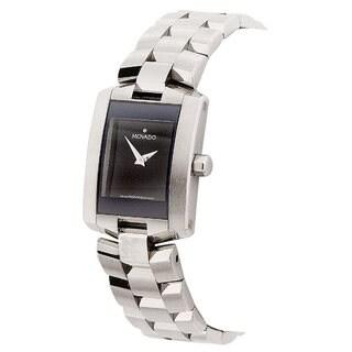 Movado Women's 0605378 Eliro Black Dial Stainless Steel Watch