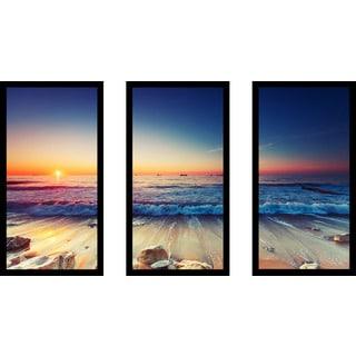 Sunrise Over The Horizon' Framed Plexiglass Wall Art (Set of 3)