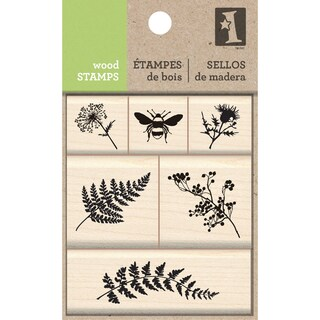 Inkadinkado Mounted Stamp Set-Meadow
