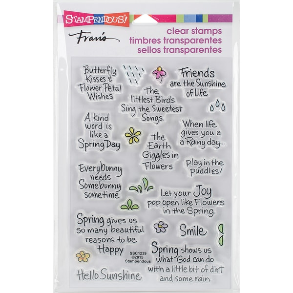 Stampendous Perfectly Clear Stamps 4X6-Spring Sentiments