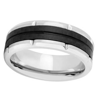 Titanium And Carbon Fiber Band Ring