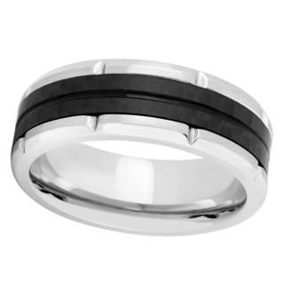 Titanium and Carbon Fiber Band Ring (More options available)