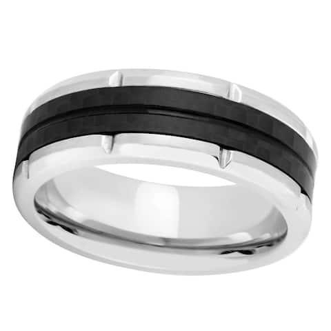 Titanium and Carbon Fiber Band Ring - Black