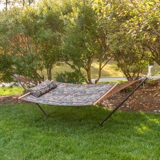 Castaway RealTree Quilted Hammock Combo with Pillow and Stand