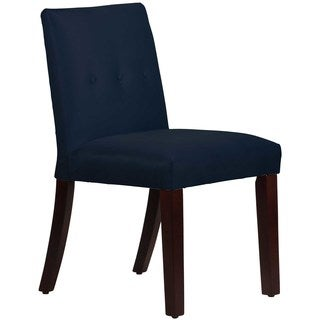 Skyline Furniture Custom Dining Chair with Buttons in Micro-Suede