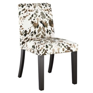 Skyline Furniture Custom Tapered Dining Chair with Buttons in Prints