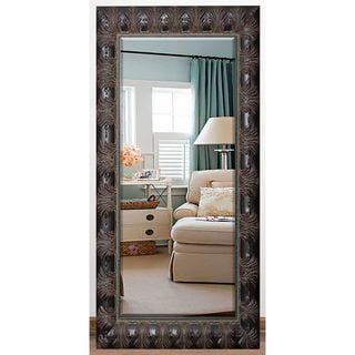 US Made Feathered Accent Beveled Full Body Mirror