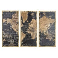 Stanford World Map Wall Decor (Pack of 3)