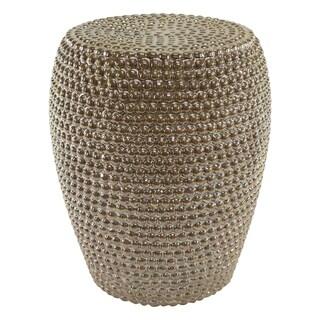 wright silver metallic garden stool free shipping today