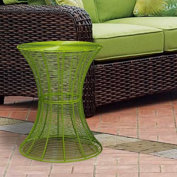 Shop Outdoor Round Iron Wire Side Table Free Shipping