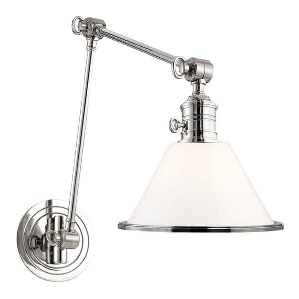 Hudson Valley Garden City Polished Nickel Adjule Wall Sconce