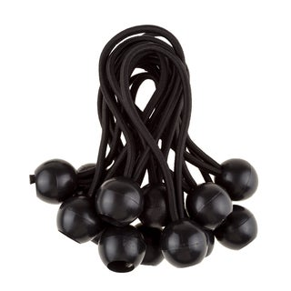 6-inch Ball Bungee Cords Black By Stalwart (2 options available)