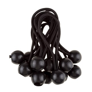 6-inch Ball Bungee Cords Black By Stalwart