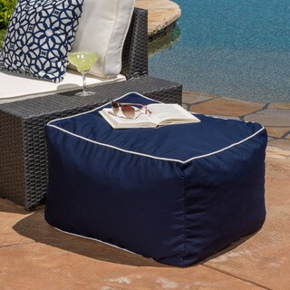 Peyton Outdoor Acrylic Lounge Bean Bag Chair by Christopher Knight Home
