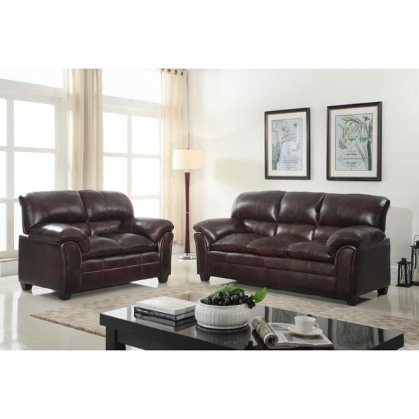 shop faux leather sofa and loveseat living room furniture set on sale free shipping today. Black Bedroom Furniture Sets. Home Design Ideas