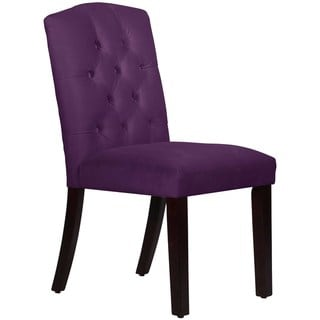 Skyline Furniture Tufted Arched Dining Chair in Velvet