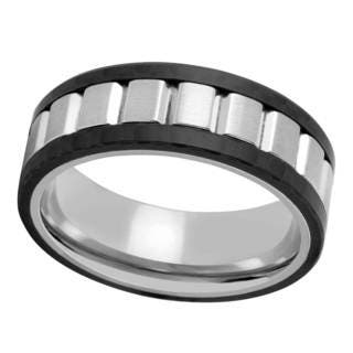 Titanium and Carbon Fiber Men's Band - Black https://ak1.ostkcdn.com/images/products/14352877/P20928944.jpg?impolicy=medium