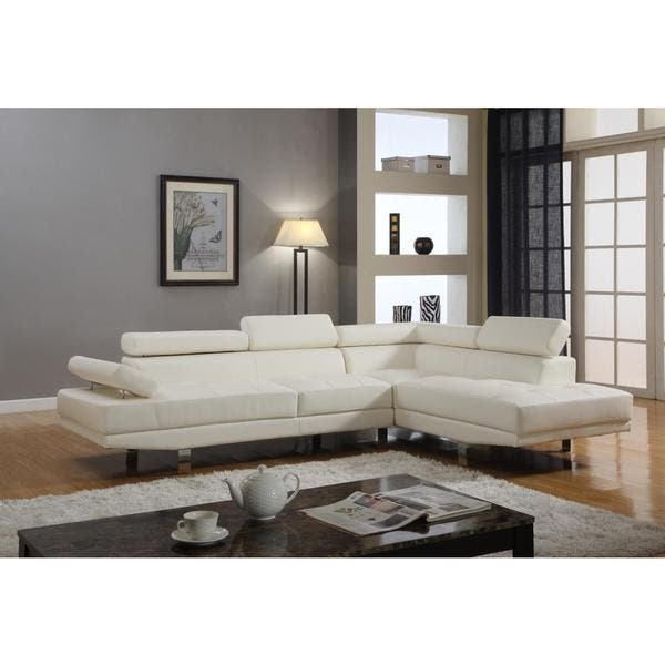 Amazing Contemporary Faux Leather 2 Piece Sectional Sofa Set Dailytribune Chair Design For Home Dailytribuneorg