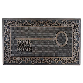 Home Fashion Designs Sawyer Collection Rubber Home Key Design Welcome Mat