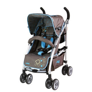 Mia Moda Browny Ciel Luna Bella Brown Aluminum Umbrella Lifestyle Stroller