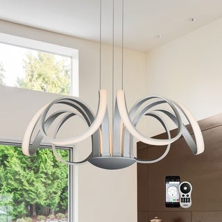 Capella Flower VTC3630AL 30-inch WiFi-enabled Tunable-white LED Chandelier from Vision by VONN Lighting