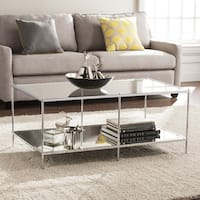 Silver Orchid Olivia Mirrored Chrome Cocktail Table