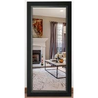 US Made Attractive Matte Black Beveled Full Body Mirror